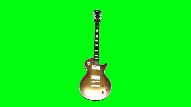 绿屏抠像多角度电吉它