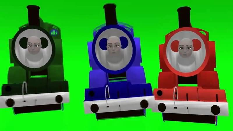 绿屏抠像卡通小火车