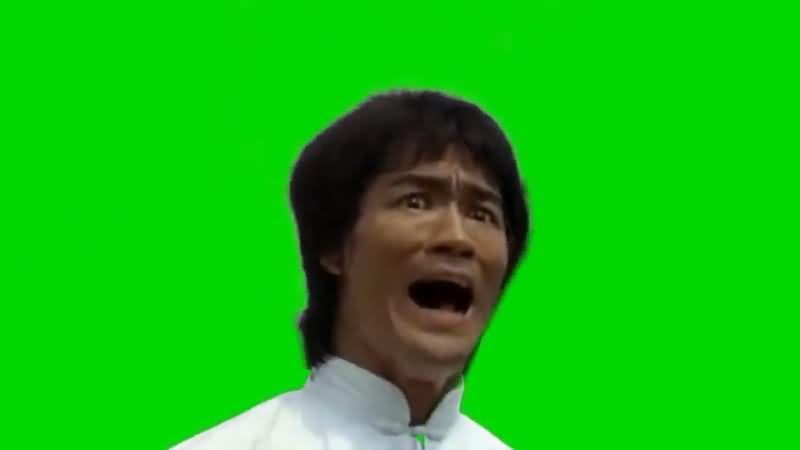 绿屏抠像李小龙经典表情