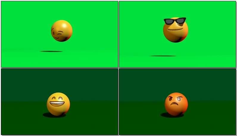绿屏抠像3D卡通QQ经典表情