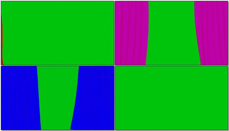 绿屏抠像彩色的窗帘