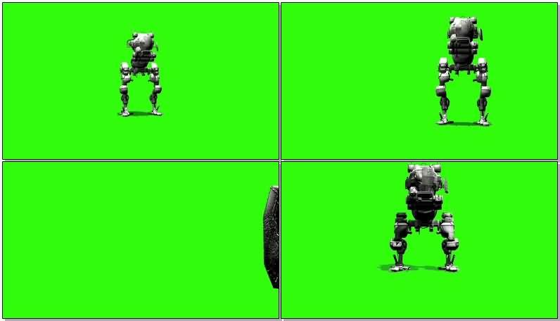 绿屏抠像大脚机器人