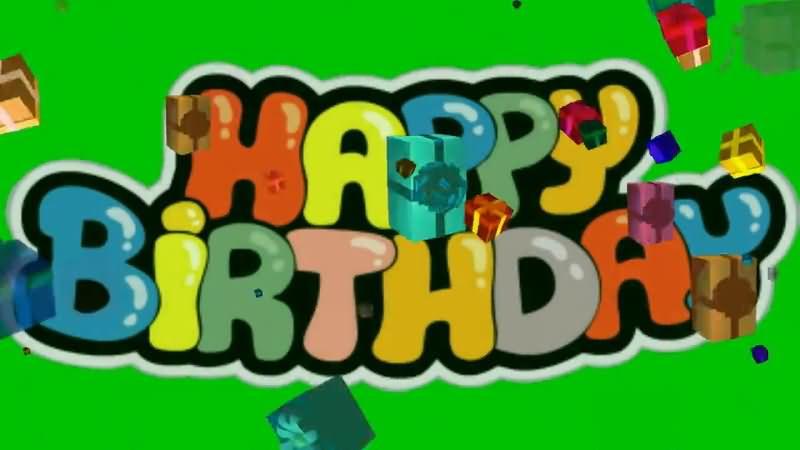 绿屏抠像HAPPY BIRTHDAY礼物盒视频素材