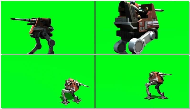 绿屏抠像双脚机器人视频素材