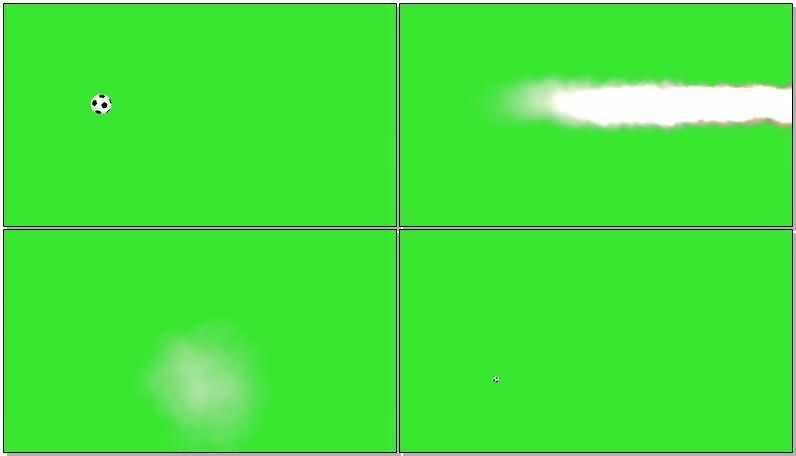 绿屏抠像跳动的足球视频素材