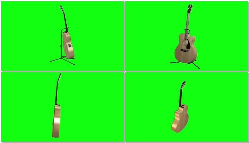 绿屏抠像电动吉它视频素材