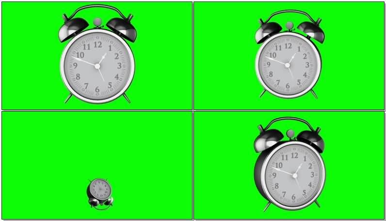 绿屏抠像银色闹钟视频素材