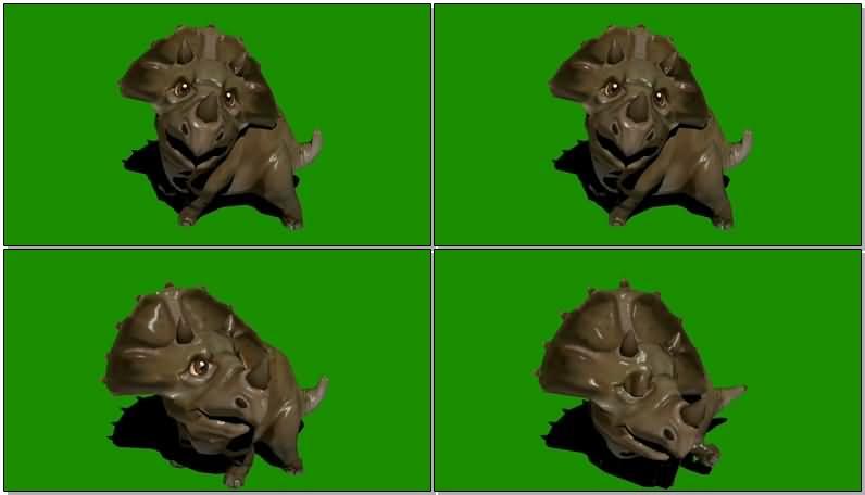 绿屏抠像可爱的恐龙宝宝视频素材