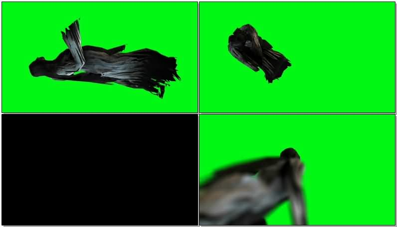 绿屏抠像白衣服幽灵女鬼视频素材
