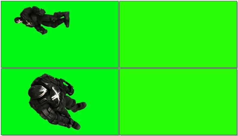 绿屏抠像漫威反派交叉骨视频素材