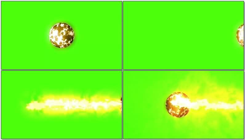 绿屏抠像燃烧的火球视频素材