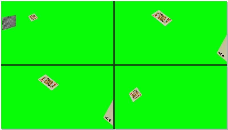 绿屏抠像飘落的扑克牌视频素材