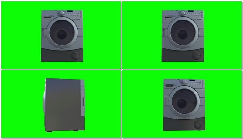 绿屏抠像迷你滚筒小洗衣机视频素材