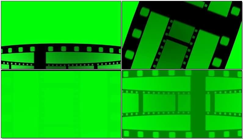 绿屏抠像滚动的电影胶片视频素材