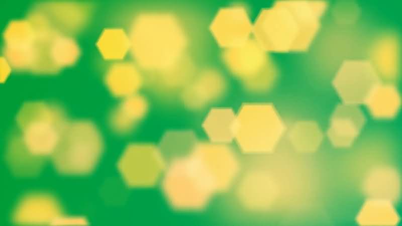 绿屏抠像浮动的黄色光斑视频素材