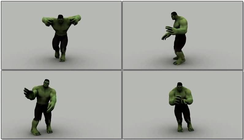 跳骑马舞的绿巨人视频素材