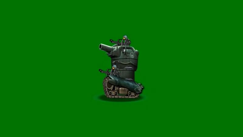 绿屏抠像卡通3D坦克3视频素材