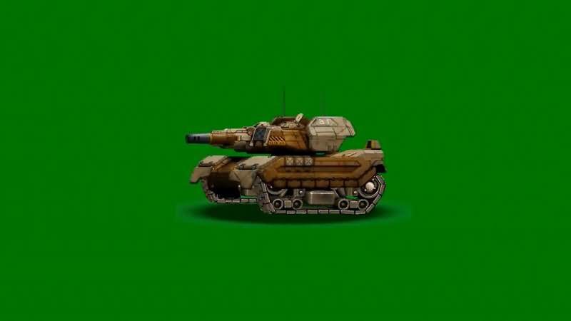 绿屏抠像卡通3D坦克4视频素材