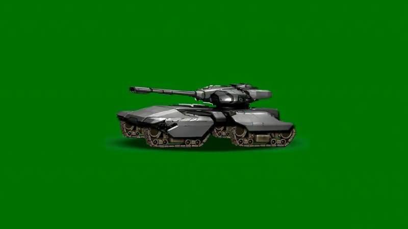 绿屏抠像卡通3D坦克5视频素材