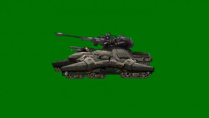 绿屏抠像卡通3D坦克6视频素材