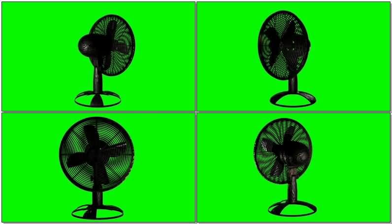 绿屏抠像老式电风扇视频素材
