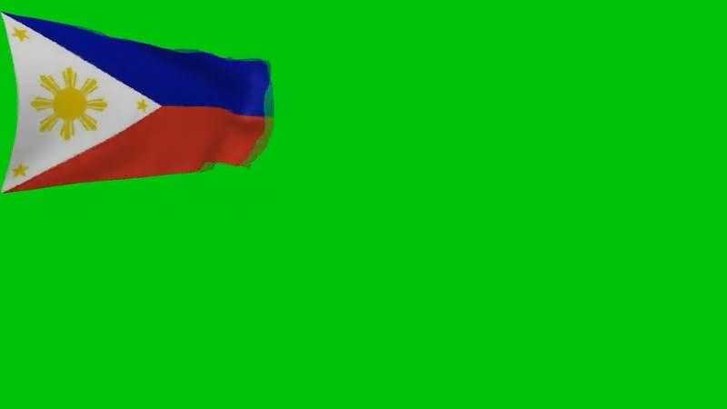 绿屏抠像菲律宾国旗视频素材