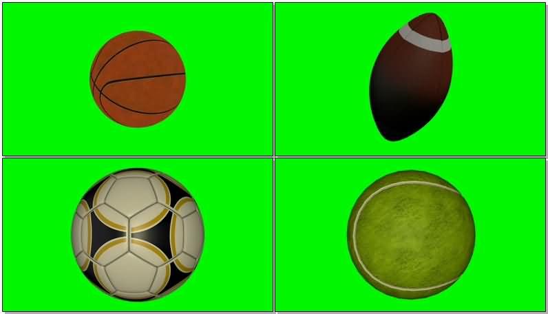 绿屏抠像各种体育球类视频素材