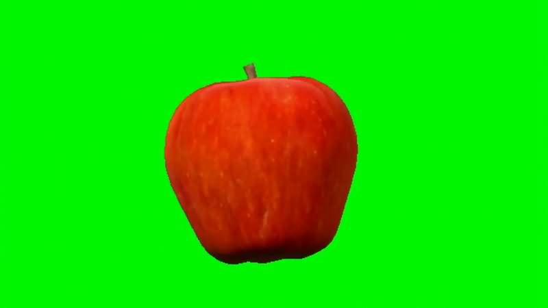 绿屏抠像旋转的红色苹果视频素材