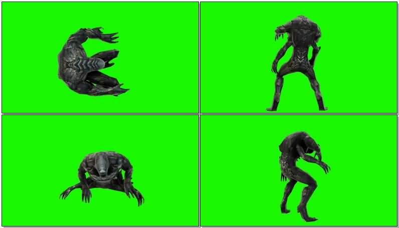 绿屏抠像灭霸军队士兵视频素材