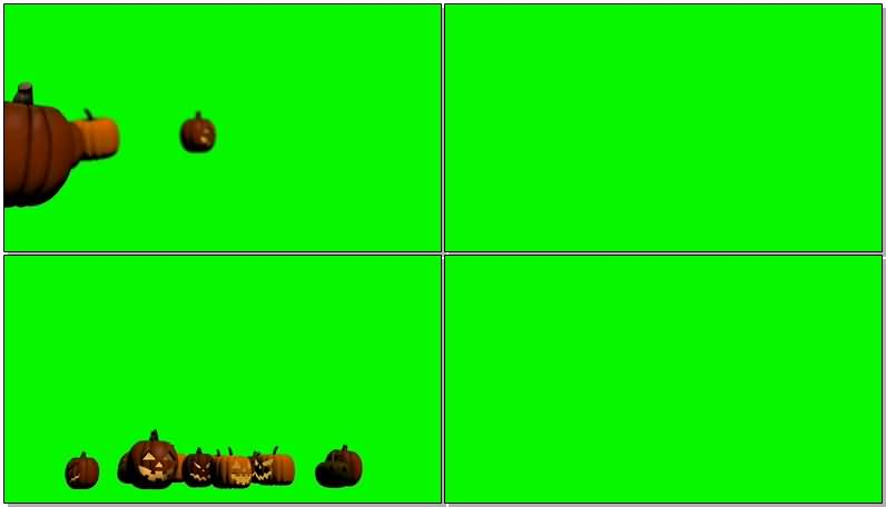 绿屏抠像万圣节南瓜灯视频素材