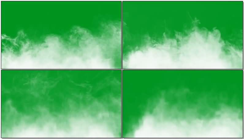 绿屏抠像升腾的白色烟雾视频素材
