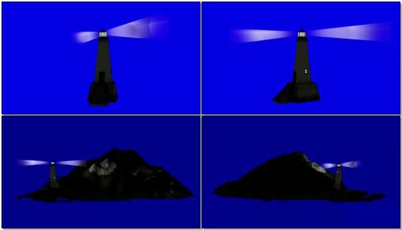 蓝屏抠像照明的灯塔视频素材