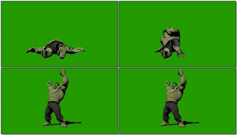 绿屏抠像绿巨人浩克视频素材