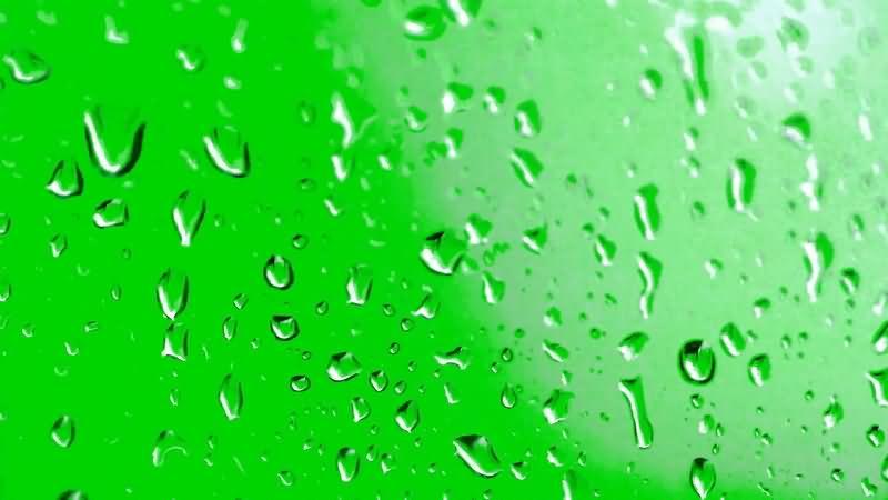 绿屏抠像玻璃上的水珠视频素材