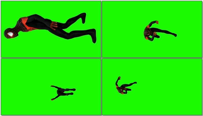 绿屏抠像黑暗蜘蛛侠视频素材