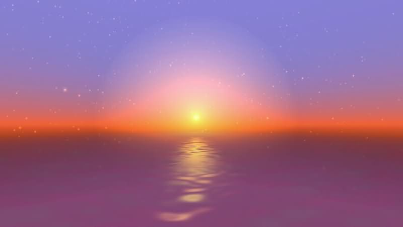 [4K]海面上升起的太阳视频素材
