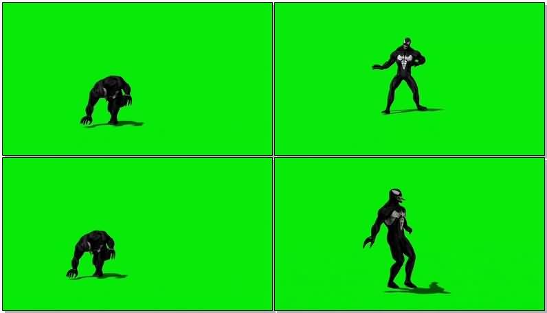 绿屏抠像漫威人物毒液视频素材