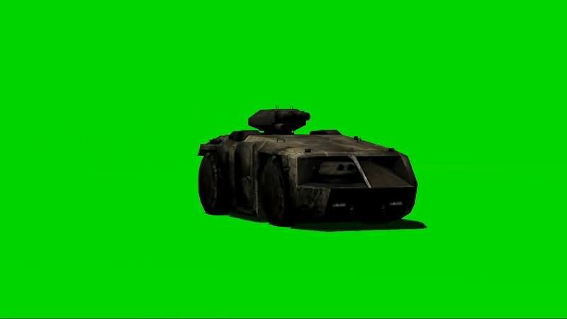 绿屏抠像装甲运兵车视频素材