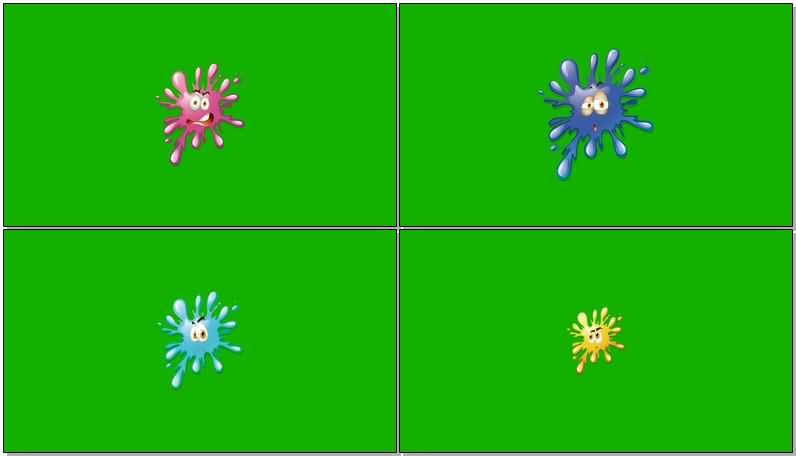 绿屏抠像卡通脸部表情视频素材