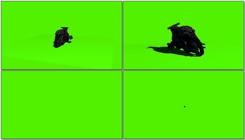绿屏抠像摩托车战车视频素材