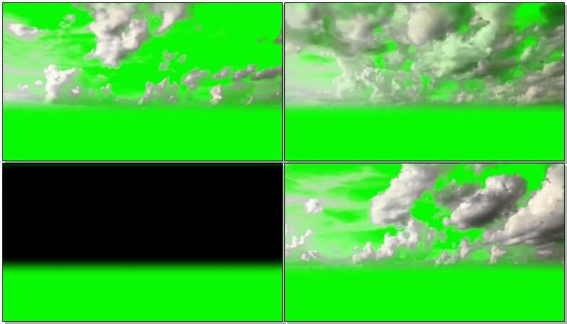 绿屏抠像天空中的白云视频素材