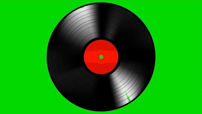 绿屏抠像黑色唱片碟片视频素材
