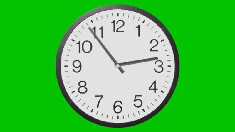 绿屏抠像狂转的时钟视频素材