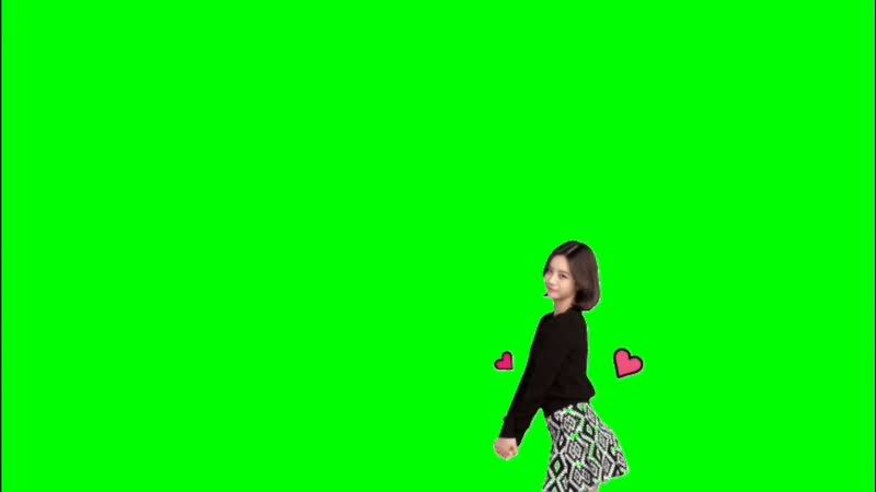 绿屏抠像跳舞的美女妹子视频素材