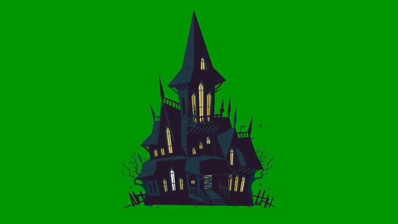 绿屏抠像卡通魔法城堡视频素材