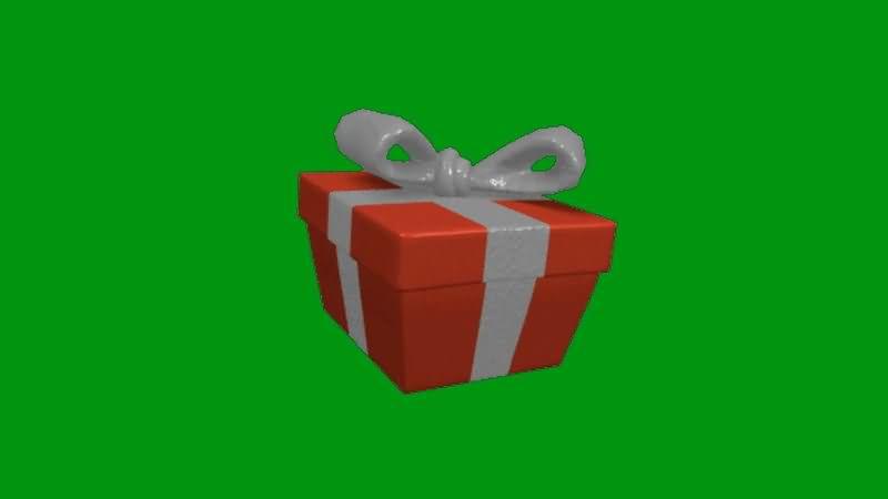 绿屏抠像跳动的礼品盒视频素材
