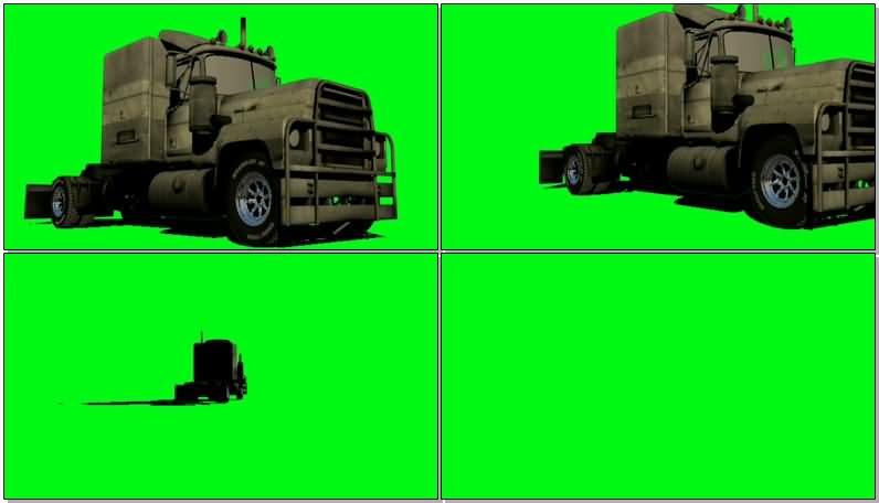 绿屏抠像大型运输车视频素材