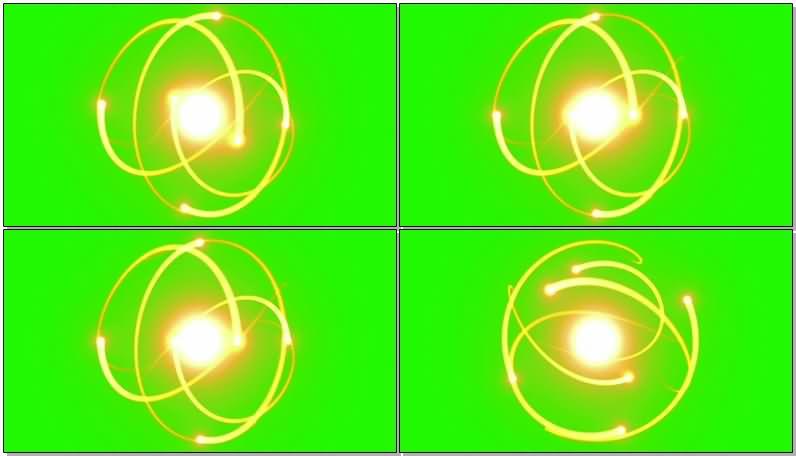 绿屏抠像金色光圈光环视频素材