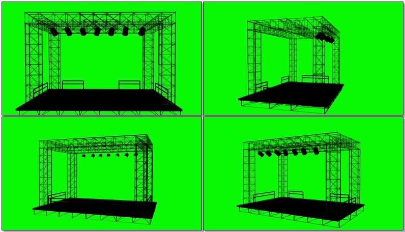 绿屏抠像演出舞台视频素材