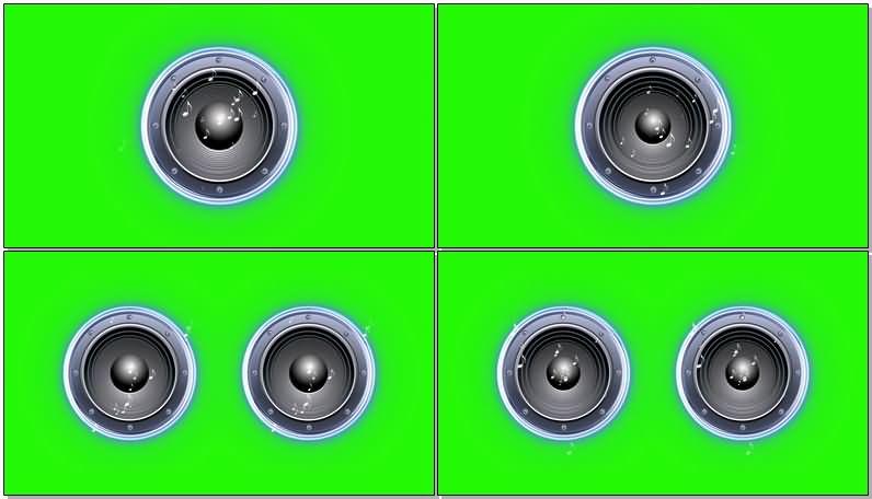 绿屏抠像震动的音响鼓膜视频素材